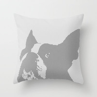 Boston Terrier Throw Pillow by Made by London | Society6