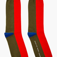 Marc By Marc Jacobs Blue Colorblocked Socks