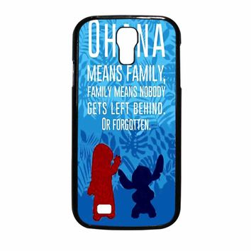 Lilo And Stitch Ohana Speak Samsung Galaxy S4 Case