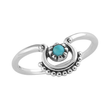 Beaded Curve Ring