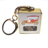 Ford T Coupe 1912 Sankyo Music Box Keychain Love Story Theme Song