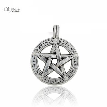 My Shape Talisman Supernatural Charms Pentacle Pentagram Amulet Pendant Hebrew Charm Bracelet DIY Jewelry Accessories 5pcs