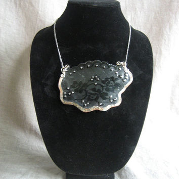 Lace Bib/Chest Plate Necklace by CraftyDiabeatles on Etsy
