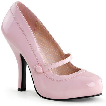 Pinup Couture Cutiepie Pink Patent Baby Doll Pumps