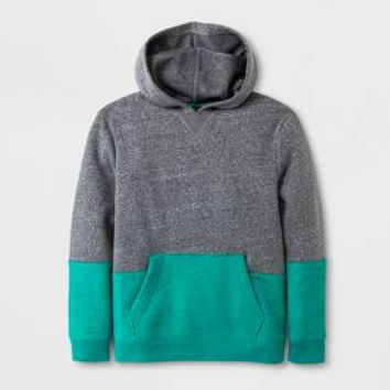 Boys' Fleece Pullover Sweatshirt - Cat & Jack™ Gray