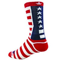 USA Flag Athletic Running Socks