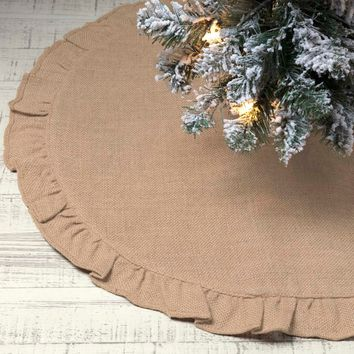 Jute Burlap Natural Mini Tree Skirt