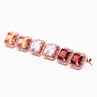 Square Shape CZ Earrings in 3 Colors