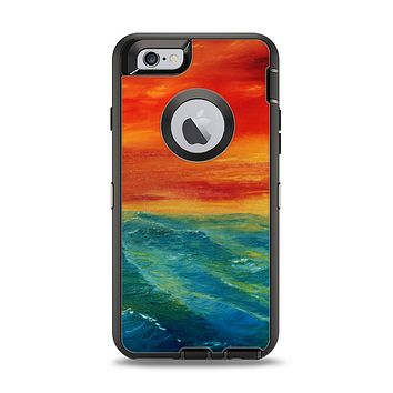 The Abstract Sunset Painting Apple iPhone 6 Otterbox Defender Case Skin Set