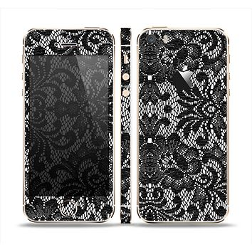 The Black and White Lace Pattern10867032_xl Skin Set for the Apple iPhone 5s