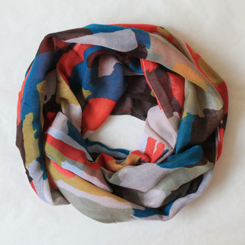colors scarf,infinity scarf, scarf, scarves, long scarf, loop scarf, gift