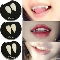 5 Styles Horrific Fun Clown Dress Vampire Teeth Halloween Party Dentures Props Zombie Devil Fangs