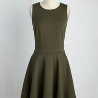 Springs to Mind Dress in Olive | Mod Retro Vintage Dresses | ModCloth.com