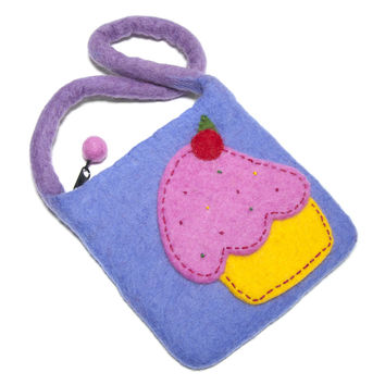 Felt Cupcake Bag for Kids