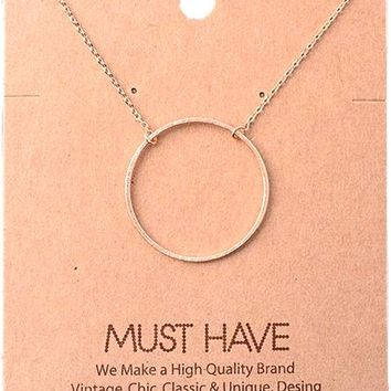 Must Have-large Circle Necklace, Rose Gold