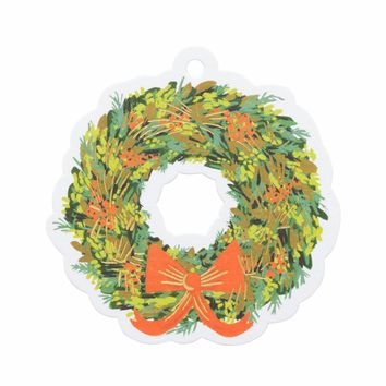 Wreath Die-Cut Gift Tags