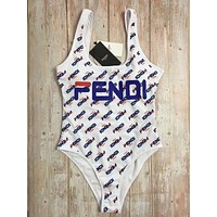 Fendi Tide brand female sexy one-piece bikini