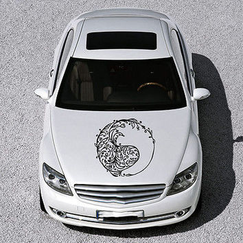 Taoism Infinity Sign Yin and Yang HOOD CAR VINYL STICKER DECALS GRAPHICS SV3658