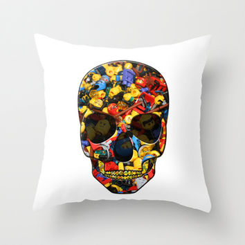 Lego Skull Throw Pillow by LGD.