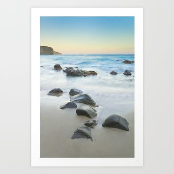 Magic beach. Volcanic sea. Art Print by Guido Montañés
