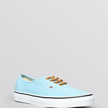 Vans Unisex Lace Up Flat Sneakers - Authentic Twill