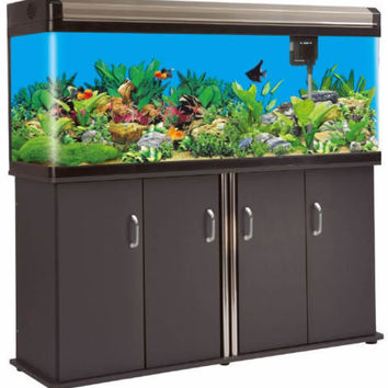 133 Gallon Fish Tank Reef Aquarium Glass w/ Cabinet