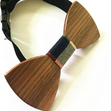 High quality discount Fashion handmade wooden bow tie Both male and female elegant wood ties men bow tie