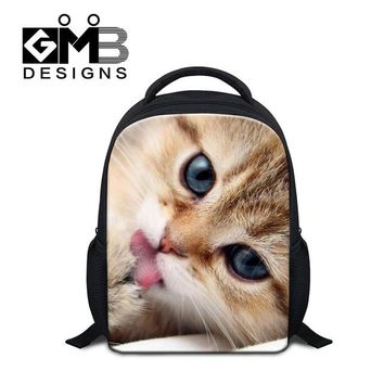 Boys bookbag trendy Best School Bags for Little Girls Animal Cat Small Backpacks for Children Kids Cute Lightweight  Day Pack for Boy Mochila AT_51_3