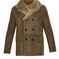 Double-breasted shearling coat   Gucci   MATCHESFASHION.COM US