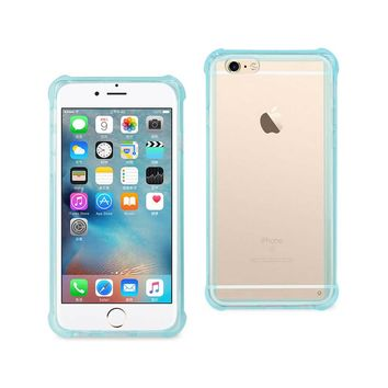 New Mirror Effect Case With Air Cushion Protection In Clear Navy For iPhone 6