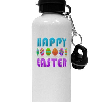 Happy Easter Decorated Eggs Aluminum 600ml Water Bottle
