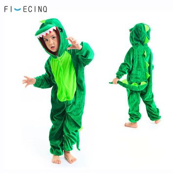 Kigurumi Animals Kids Anime Cosplay Costume Funny Suit School Party Student Play Games Onesuits Performance Dinosaur Tiger Fancy