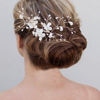 Romantic Flower Comb ~ Airy - Hair Comes the Bride Bridal Hair Accessories & Headpieces, Wedding Jewelry, Hair & Makeup