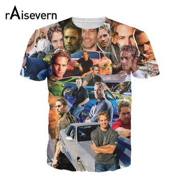 New Men Women Fashion 3D T Shirt Paul Walker Paparazzi T-Shirt The Fast And Furious Wonderful Paul Tee Awesome Tops Dropship