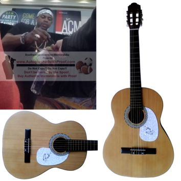 Jimmie Allen Autographed Full Size 39 Inch Country Music Acoustic Guitar, Proof Photo