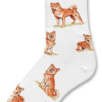 Shiba Inu Dog Adult Poses Socks v.2