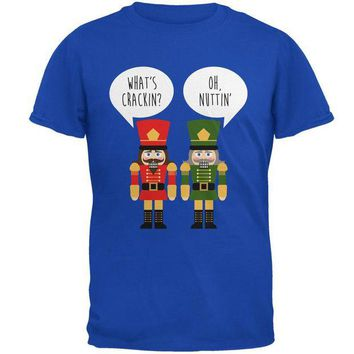 DCCKU3R Christmas Nutcracker What's Crackin' Funny Mens Soft T Shirt