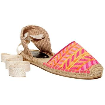 Soludos Classic Espadrille Sandal Flats shoes multi pink size 6-9M