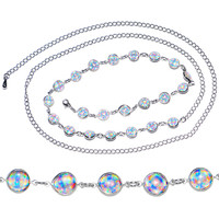 Clear Gem Glamour and Glitz Adjustable Belly Chain | Body Candy Body Jewelry