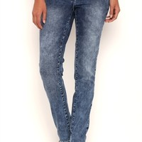 Amethyst Bodycon Skinny Jeans with Acid Wash