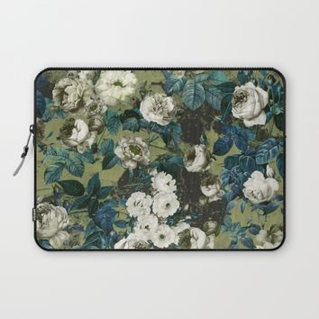 Midnight Garden Laptop Sleeve by Burcu Korkmazyurek