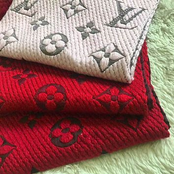LV Louis Vuitton Fashion Unisex Casual Embroider Easy To Match Scarf Scarves Accessories I-YH-FTMPF