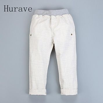 Spring New Arrived Children Pants Casual Cotton Linen Solid Kids Trousers Baby Costume Boy Clothes