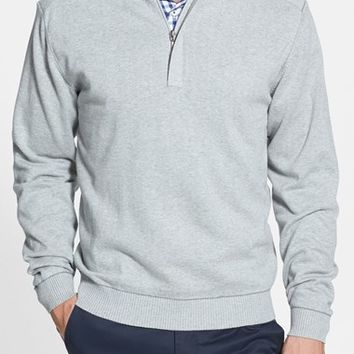 Men's Big & Tall Cutter & Buck 'Broadview' Half Zip Sweater