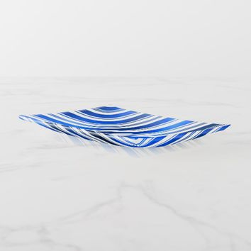 Blue Candy Cane Stripes Trinket Trays