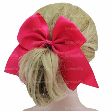 "12 Pcs/Lot 7"" large hair bow With clips Children Girl Hairbow Teens hair bow Boutique bows Hairpins Hair accessories"