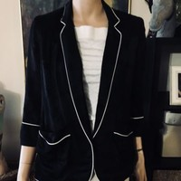 Woman's AUTHENTIC SMYTHE Les Vestes Star Blazer Jacket Size 4, Antique Alchemy