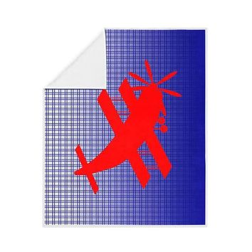 Biplane Aircraft Fleece Blanket