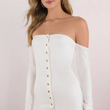 Clara Off Shoulder Bodycon Dress