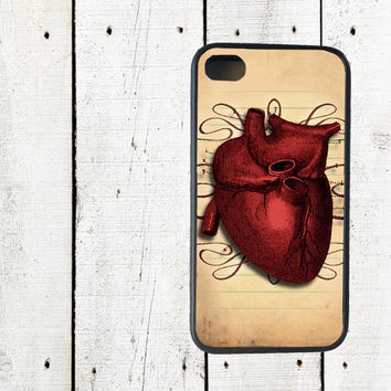 iPhone Case. Anatomical Heart iPhone 4 Case, Halloween - iPhone 5 Case - Valentine's Day